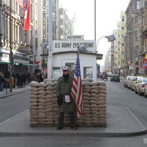 Guard post at Checkpoint Charlie
