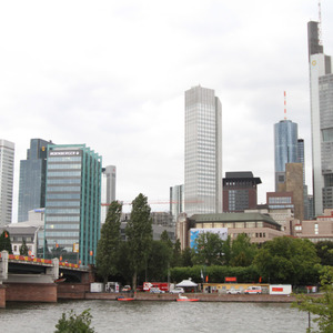 Central Frankfurt across the Main River