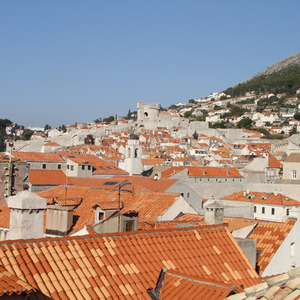 Across the red roofs of Dubrovnik