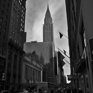 View along 42nd Street