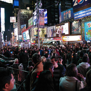Chaos in Times Square on December 30