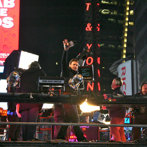 Ryan Seacrest on the main stage in Times Square