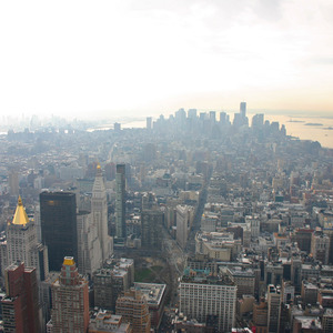 View of lower Manhattan from the Empire State Building