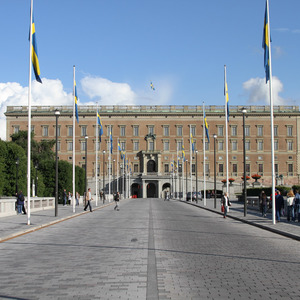 Road leading to Royal Palace, Stockholm
