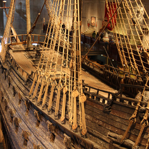 The Vasa warship, built (and sunk) in 1628