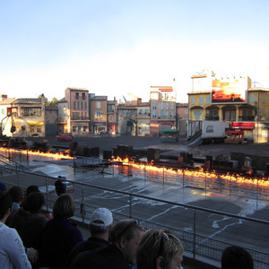 Final stunt at the Lights Motor Action Extreme Stunt Show