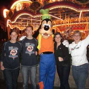 With Goofy in the Magic Kingdom