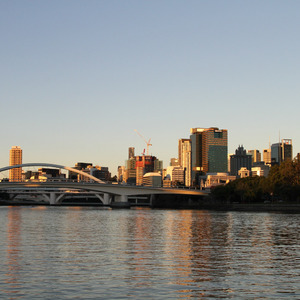 View of downtown Brisbane from the river