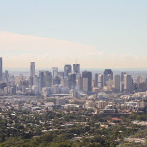 View of downtown Brisbane from Mt Coot-tha