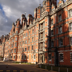 Looking along Royal Holloway Founder's Building