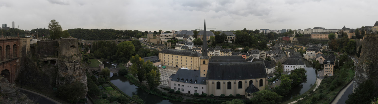 Panoramic view of Luxembourg's Ville Basse