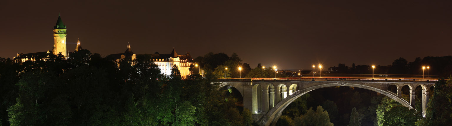 Luxembourg panorama at night