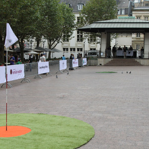 Golf tournament in the streets of Luxembourg
