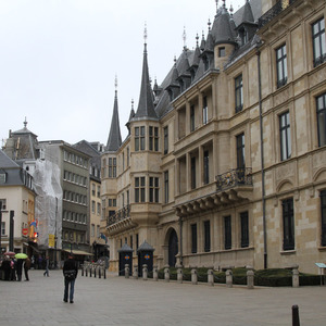 View along the Grand Ducal Palace, Luxembourg