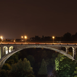 Pont Adolphe at night