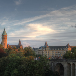 Twilight view in Luxembourg