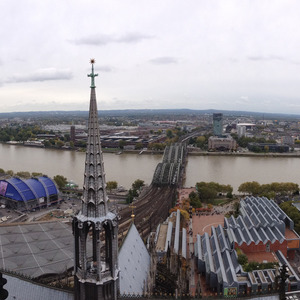 View from the top of Köln Cathedral