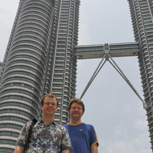 Bill and Devin at Petronas Twin Towers
