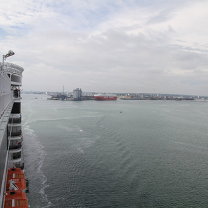 Departing Southampton on Queen Elizabeth