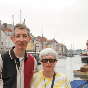Mom and dad in Nyhavn, Copenhagen