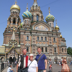 Stebila family at the Church on Spilled Blood