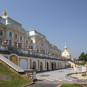 Front of Peterhof palace