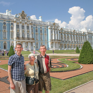 Stebila family at Catherine Palace