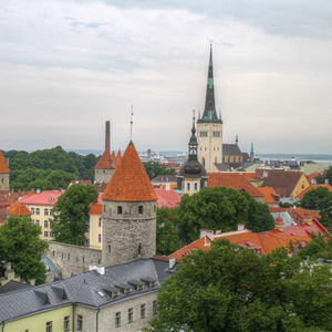 View of Tallinn's lower town