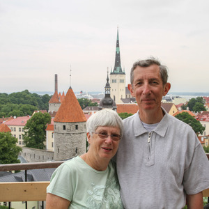 Mom and dad in Tallinn