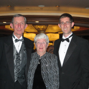 Stebila family on board Queen Elizabeth