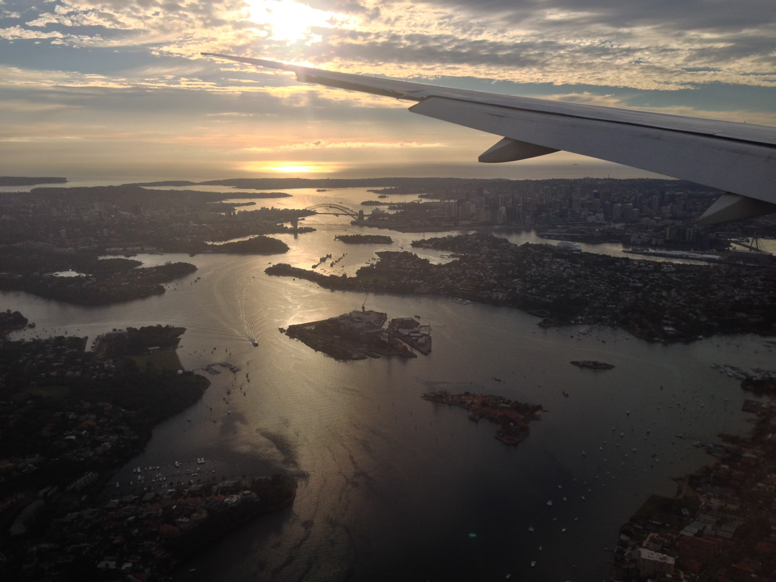 Early morning over Sydney harbour