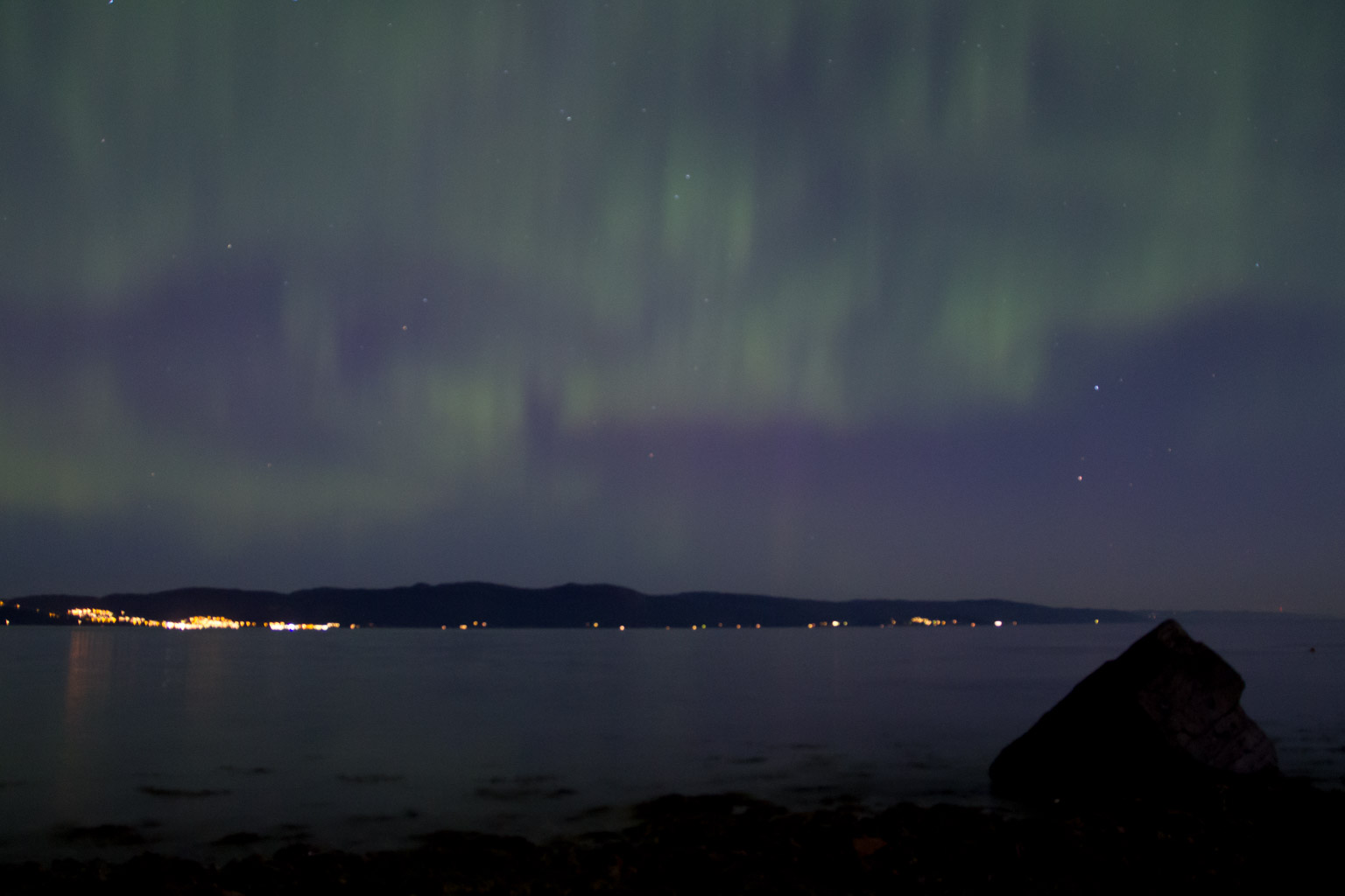 Northern Lights In Trondheim O Douglas Stebila