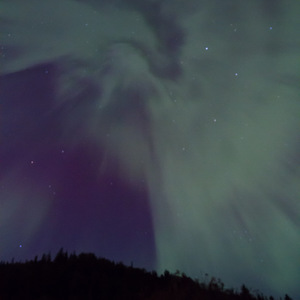 Northern lights overhead