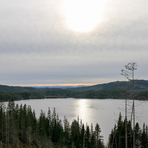 View of Skjellbreia Lake