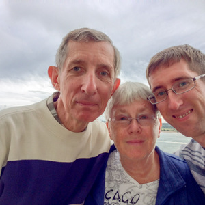 Stebila family selfie on the Queen Mary 2
