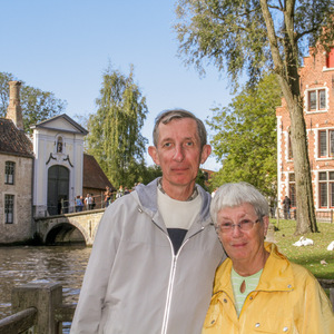 Mom and dad in Begijnhof park