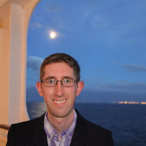 Me at dusk on board the Queen Mary 2