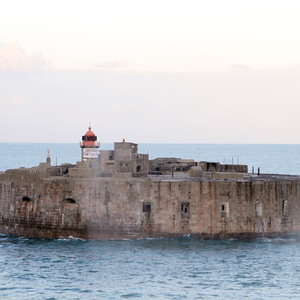 Fort in Cherbourg harbour
