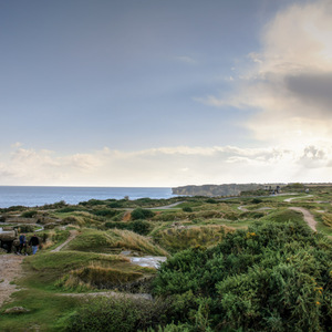 View across Pointe du Hoc