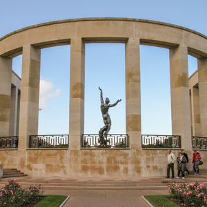 Memorial and Garden of the Missing at the American Cemetery in Normandy