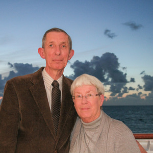 Mom and dad on board the Queen Mary 2