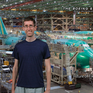 Me at the Boeing Factory Tour