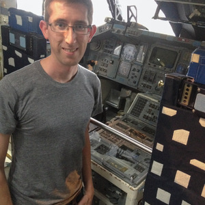 Me in the Space Shuttle cockpit