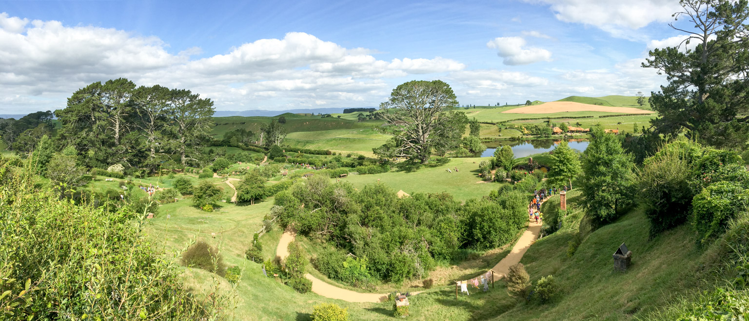 Panoramic view from Bilbo Baggins' house