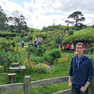 Me at the garden in Hobbiton