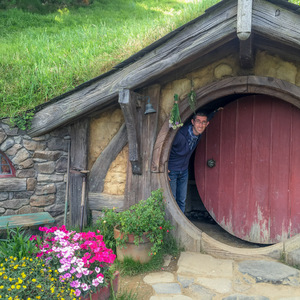 Me in a Hobbit hole