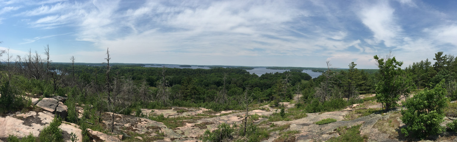 View of Lake Muskoka from Huckleberry Rock Loookout