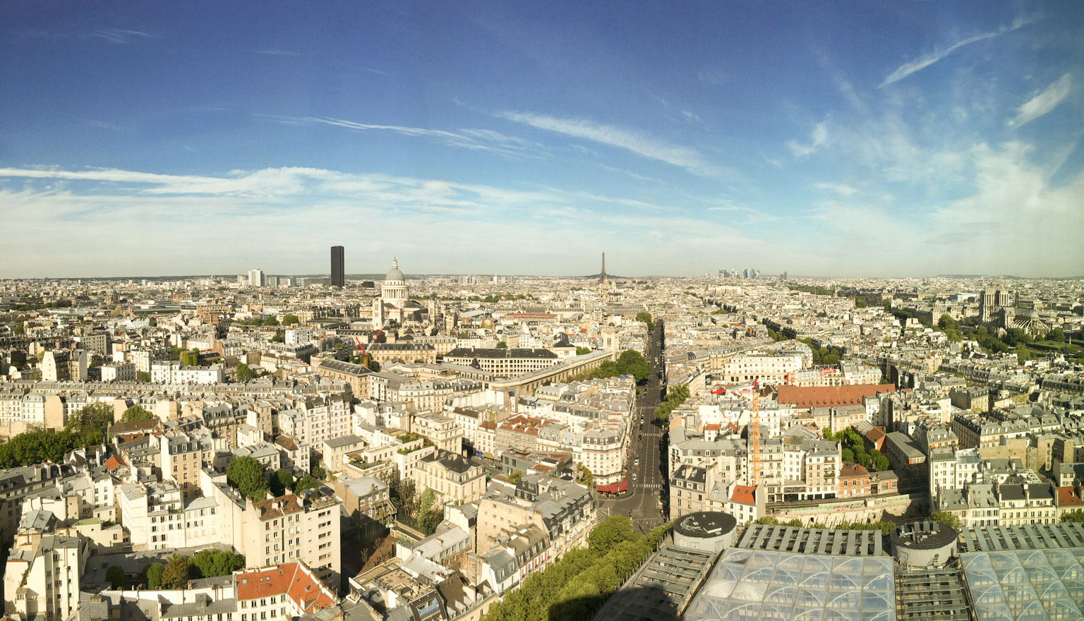 Panoramic view of Paris from the Latin Quarter