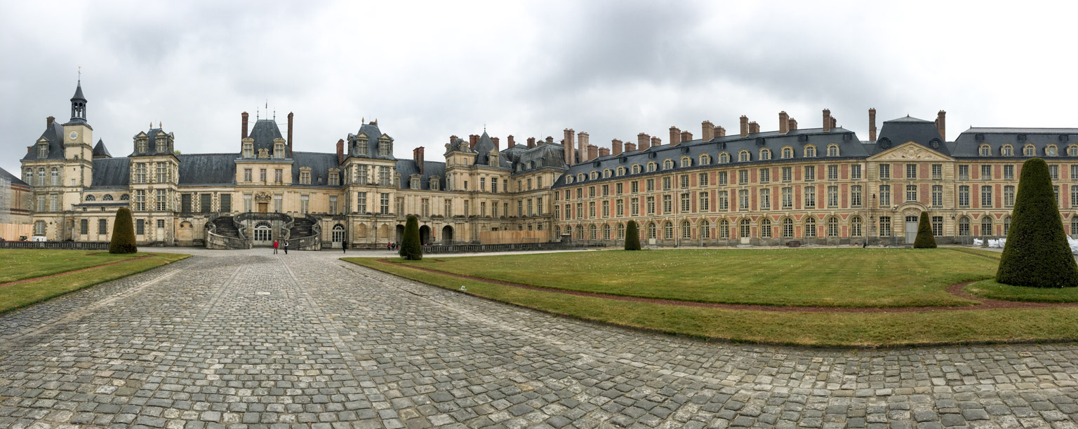 Courtyard of the Palace of Fontainebleau