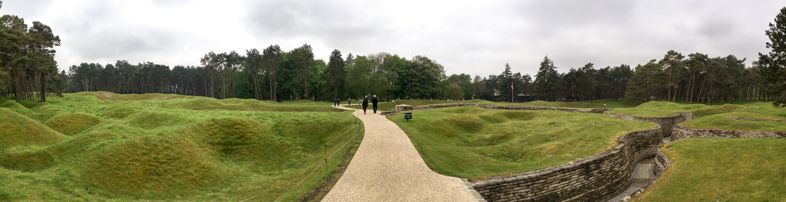 Trenches and No Man's Land at Vimy Ridge